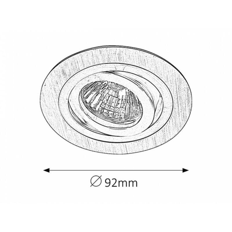 Rábalux Spot fashion 1116 beépíthető spotlámpa súrolt alumínium fém GU5.3 12V 1x MAX 50 GU5.3 1 db IP20