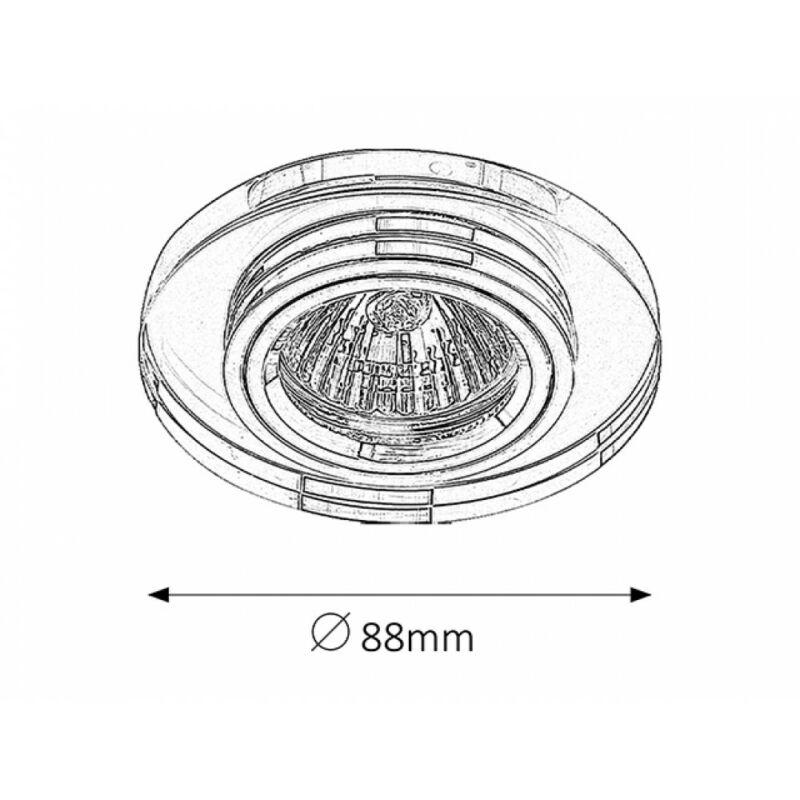 Rábalux Spot fashion 1148 álmennyezetbe építhető lámpa króm fém/ üveg GU5.3 12V 1x MAX 50 GU5.3 1 db IP20