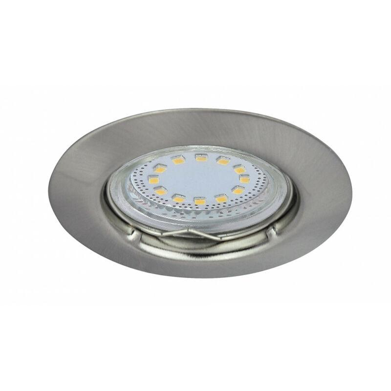 Rábalux Lite 1163 álmennyezetbe építhető lámpa szatin króm fém GU10 1x MAX 50 GU10 3 db 240 lm 3000 K IP44/ IP40 A+