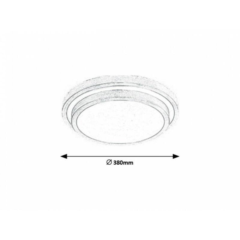Rábalux Aspen 1516 mennyezeti lámpa súrolt alumínium fém LED 24 1290 lm 3000 K IP20 A+