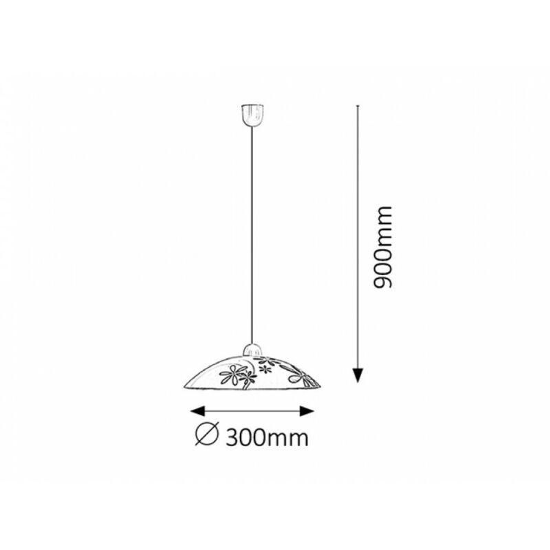 Rábalux Iris 1800 egyágú függeszték többszínű műanyag E27 1x MAX 60 E27 1 db IP20