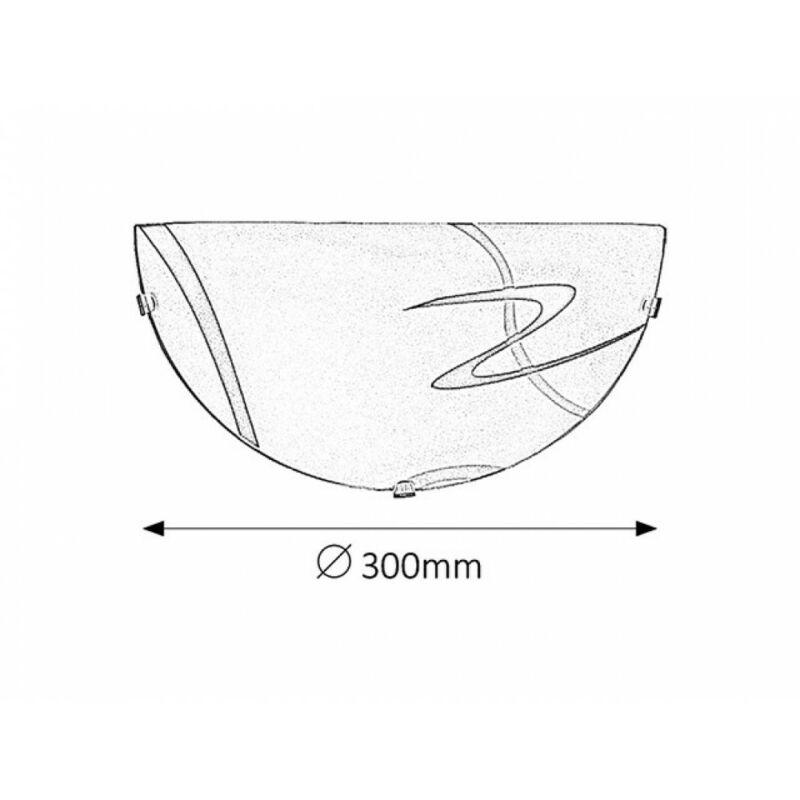 Rábalux Soley 1814 fél ufo fehér fém/ műanyag E27 1x MAX 60 E27 1 db IP20