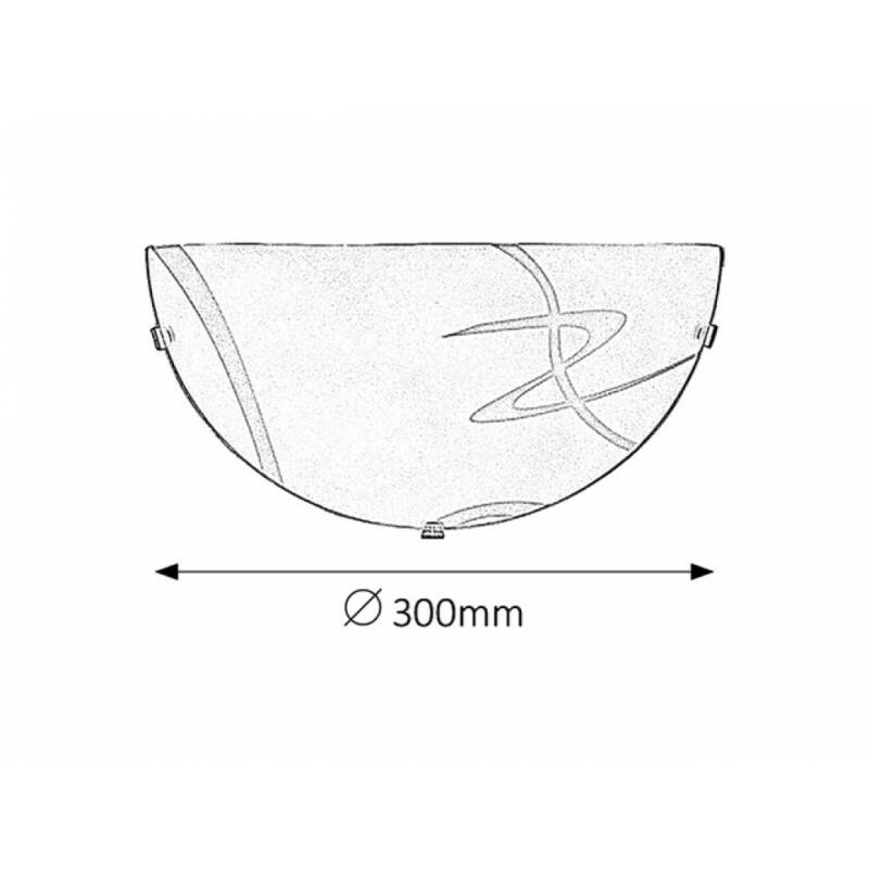 Rábalux Soley 1817 fél ufo fehér fém/ műanyag E27 1x MAX 60 E27 1 db IP20