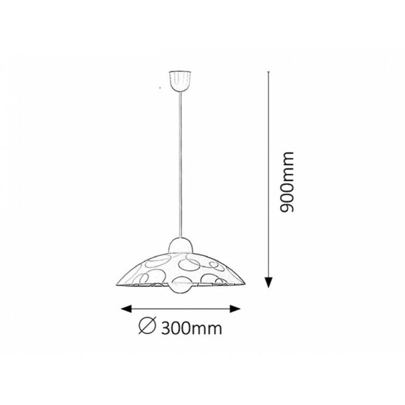 Rábalux Ada 1844 egyágú függeszték fehér műanyag E27 1x MAX 60 E27 1 db IP20