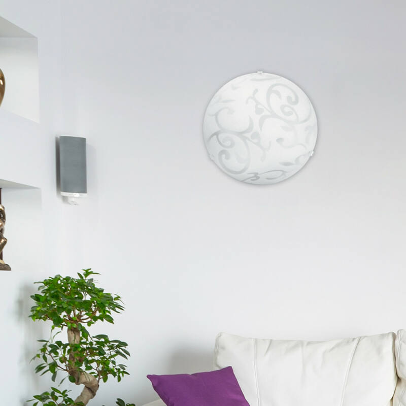 Rábalux Scroll 1845 ufó lámpa fehér fém/ műanyag E27 1x MAX 60 E27 1 db IP20