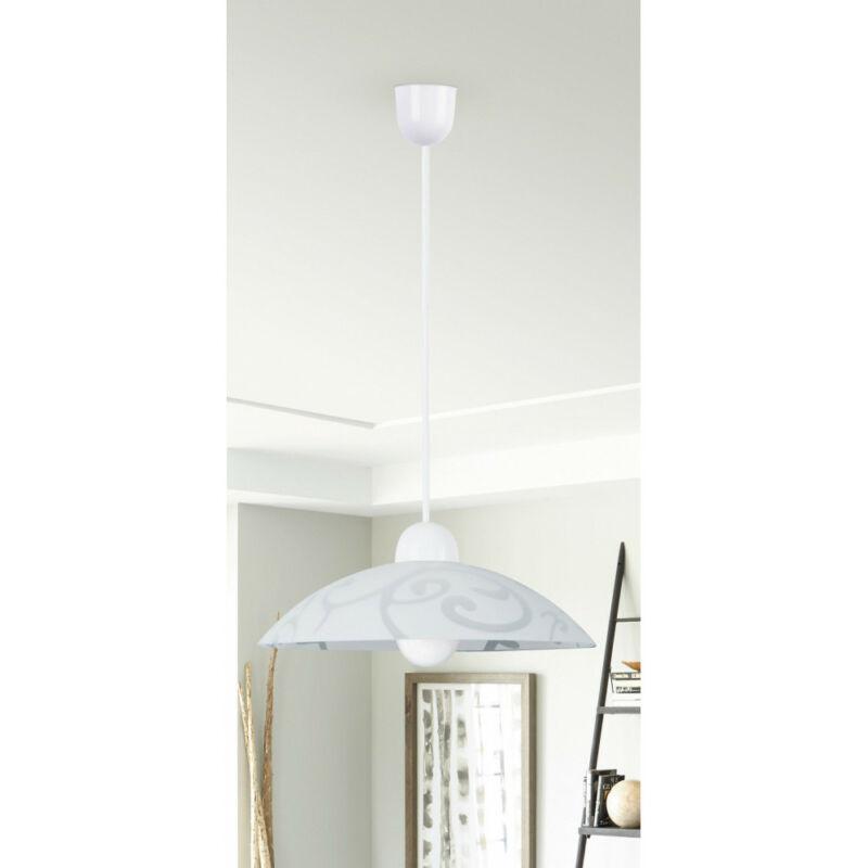 Rábalux Scroll 1846 egyágú függeszték fehér műanyag E27 1x MAX 60 E27 1 db IP20