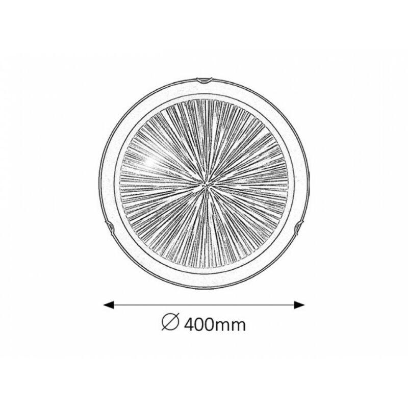 Rábalux Sphere 1858 ufó lámpa  fekete   fém   E27 2x MAX 60W   IP20