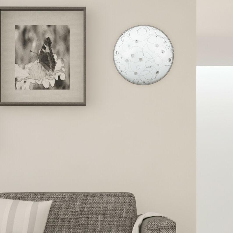 Rábalux Jolly 1862 ufó lámpa fehér mintás fém E27 2x MAX 60 E27 2 db IP20