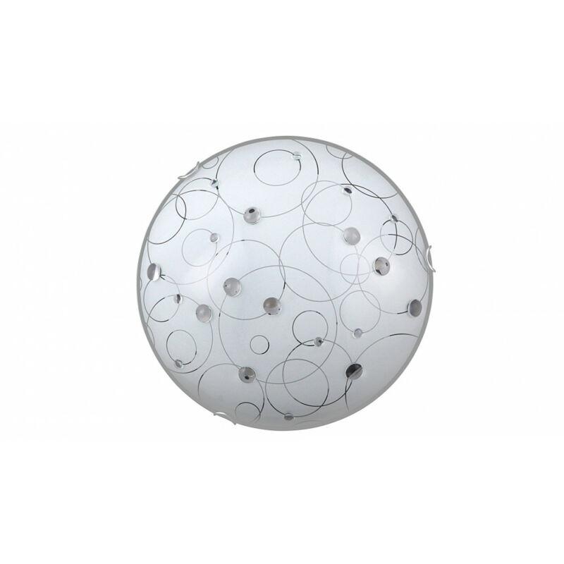Rábalux Jolly 1862 ufó lámpa  fehér mintás   fém   E27 2x MAX 60W   IP20