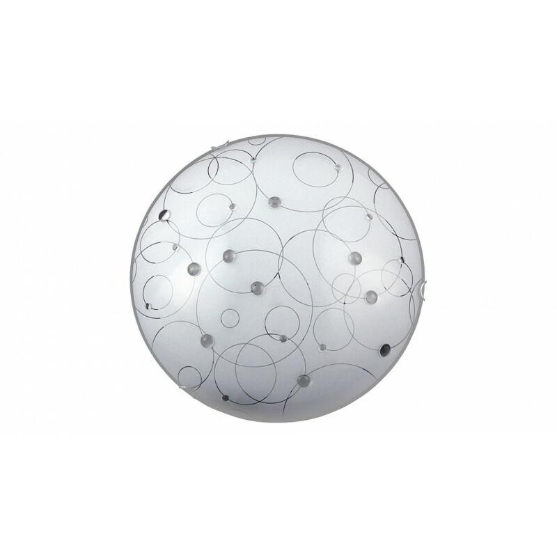 Rábalux Jolly 1863 ufó lámpa fehér mintás fém E27 3x MAX 40 E27 3 db IP20
