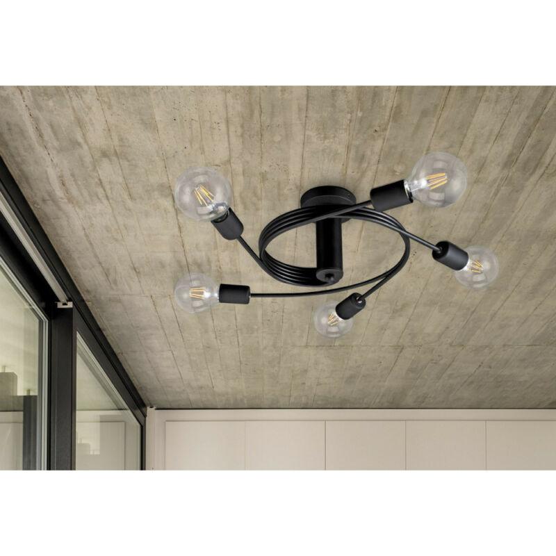 Rábalux Carly 2096 mennyezeti lámpa  matt fekete   fém   E27 5x MAX 15W   IP20