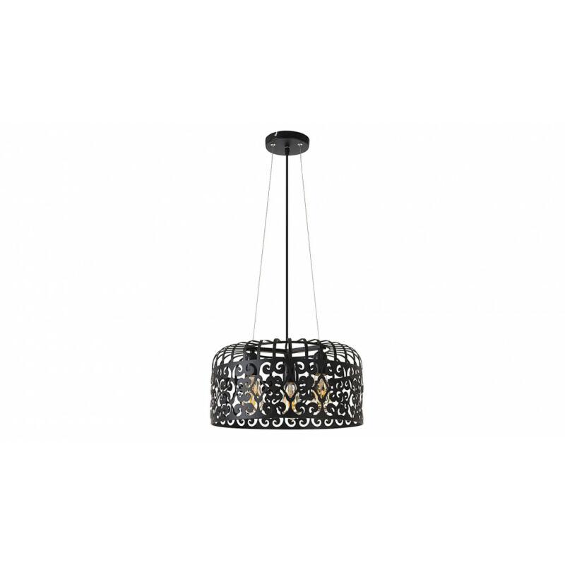 Rábalux Alessandra 2158 modern függeszték matt fekete fém E27 3x MAX 60 E27 3 db IP20