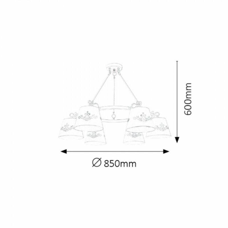 Rábalux Anna 2235 mennyezeti lámpa  matt fehér   fém   E14 1x MAX 40W   IP20