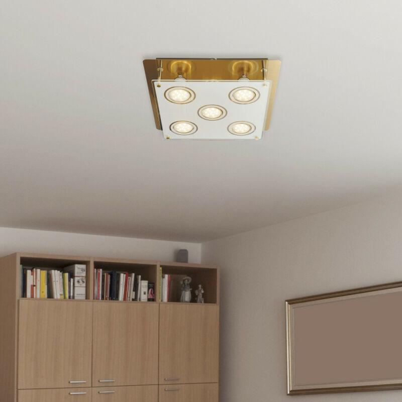 Rábalux Naomi 2253 mennyezeti lámpa  antik sárgaréz   fém   GU10 5x MAX 15W   400 lm  3000 K  IP20   A+