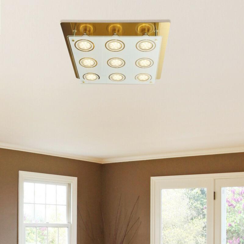 Rábalux Naomi 2254 mennyezeti lámpa  antik sárgaréz   fém   GU10 9x MAX 15W   400 lm  3000 K  IP20   A+