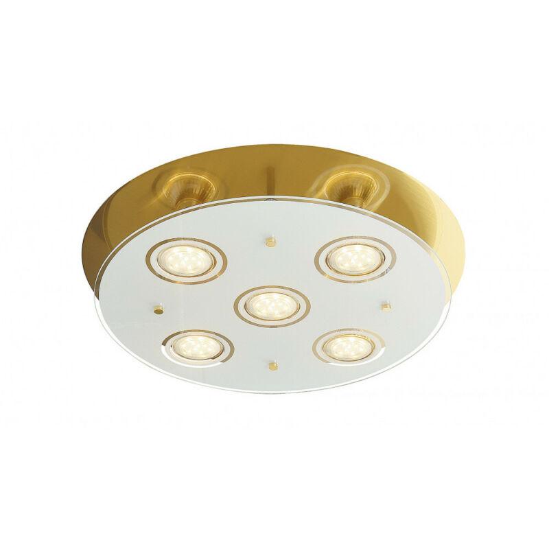 Rábalux Naomi 2256 mennyezeti lámpa  antik sárgaréz   fém   GU10 5x MAX 15W   400 lm  3000 K  IP20   A+