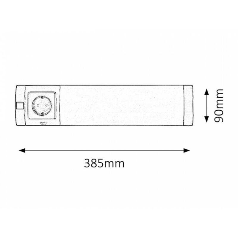 Rábalux Soft 2326 konyhapult világítás ezüst műanyag G23 PL 1x MAX 11W G23 840 lm 2700 K IP20 A