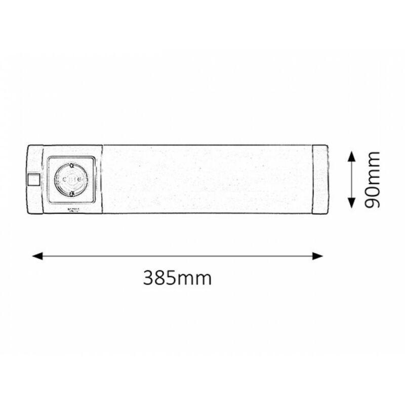 Rábalux Soft 2326 konyhapult világítás ezüst műanyag G23 PL 1x MAX 11 G23 1 db 840 lm 2700 K IP20