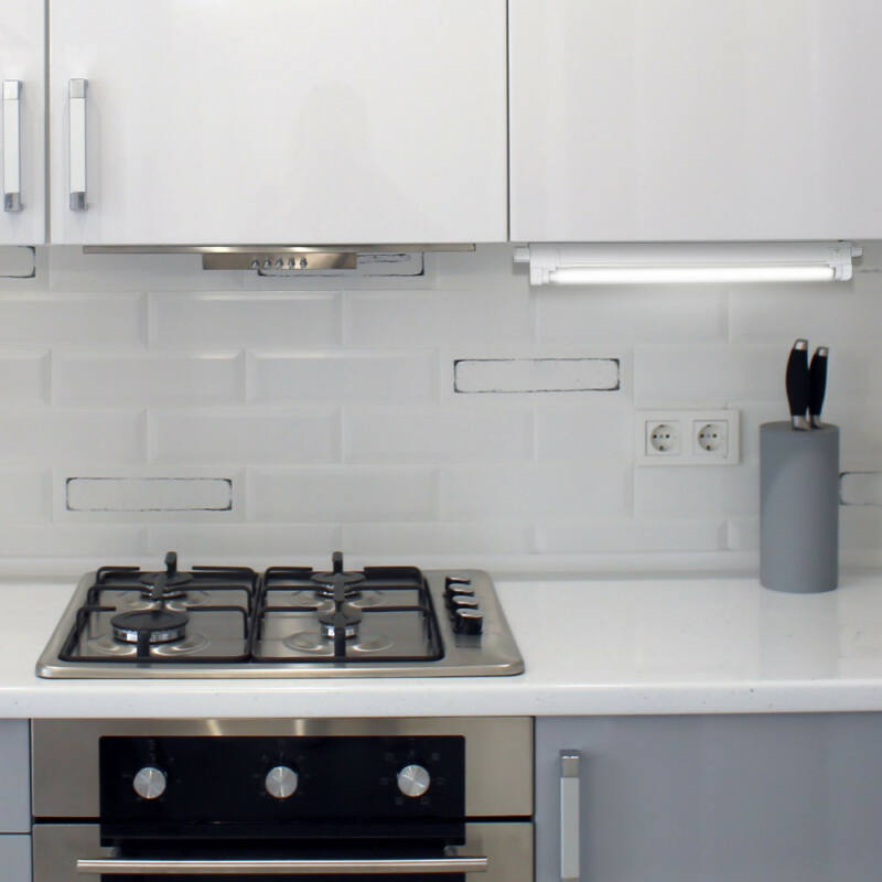Rábalux Slim 2341 konyhapult világítás fehér műanyag G5 T4 1x MAX 8 G5 1 db 520 lm 2700 K IP20 A
