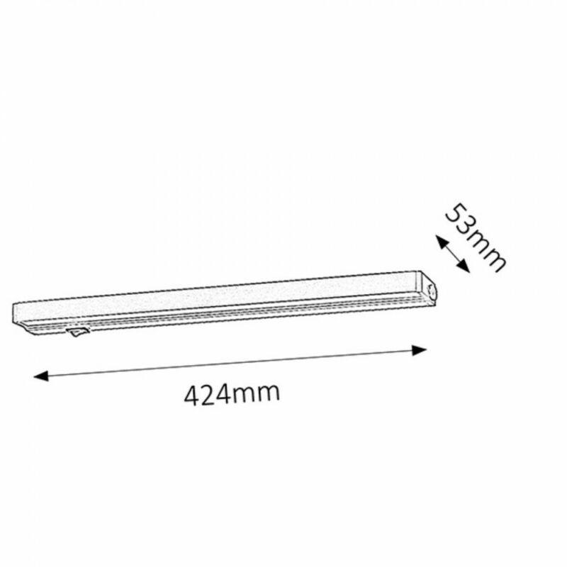 Rábalux Beltlight 2369 konyhapult világítás ezüst fém LED 7,5 400 lm 3000 K IP20 A