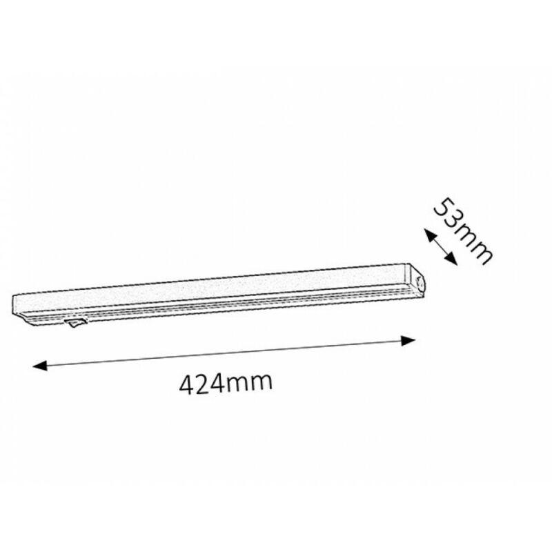 Rábalux Beltlight 2369 konyhapult világítás ezüst fém LED 7,5 400 lm 3000 K IP20 G
