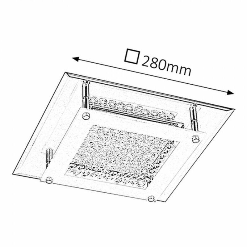Rábalux Sharon 2444 mennyezeti kristálylámpa króm fém LED 12 1080 lm 4000 K IP20 A+