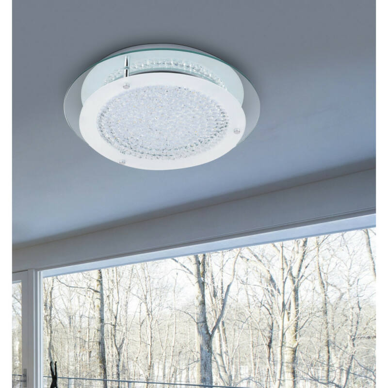 Rábalux Marion 2447 mennyezeti kristálylámpa króm fém LED 18 1620 lm 4000 K IP20 A+
