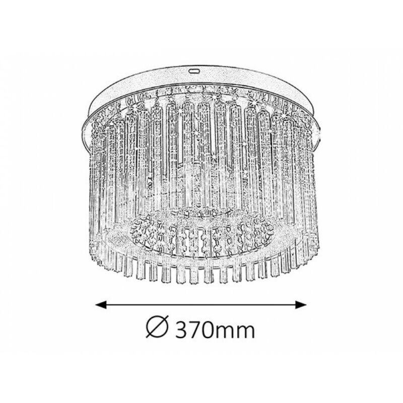 Rábalux Danielle 2449 mennyezeti lámpa króm fém LED 18 1500 lm 4000 K IP20 G
