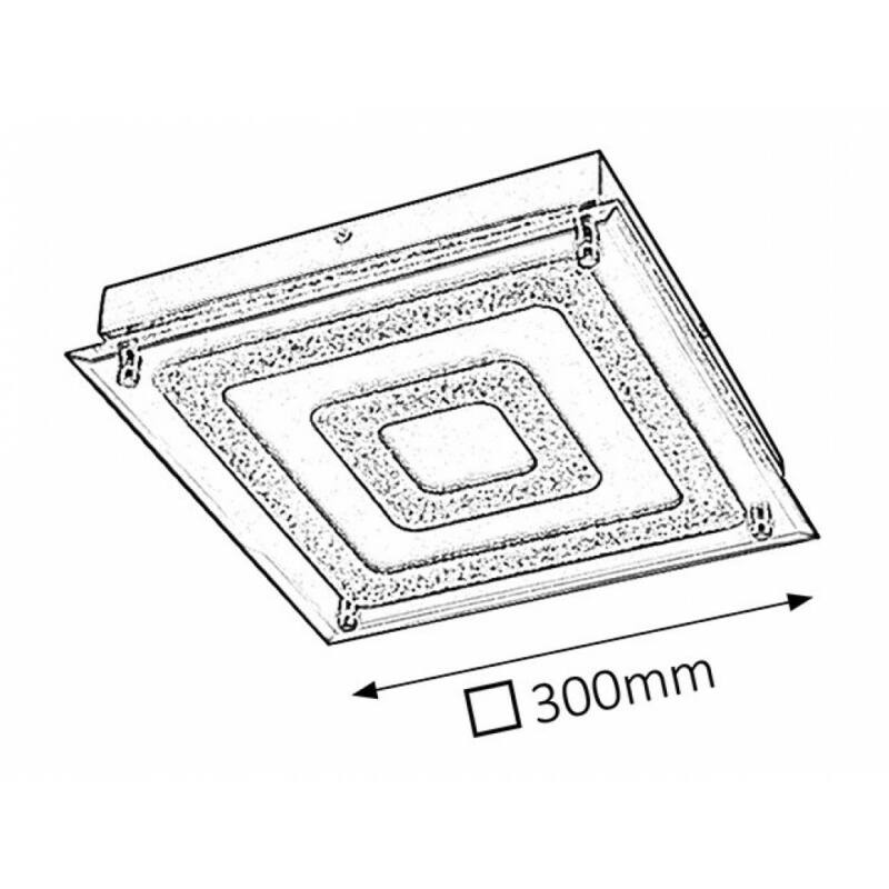 Rábalux Dagmar 2483 mennyezeti kristálylámpa króm fém LED 21 1260 lm 4000 K IP20 A