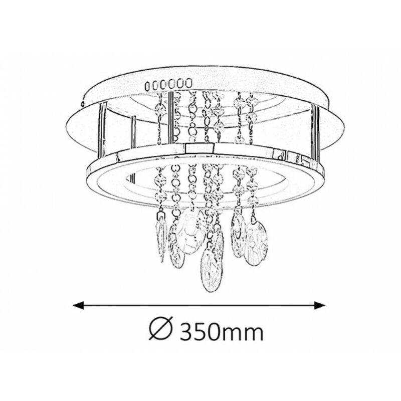Rábalux Romina 2501 mennyezeti lámpa króm fém LED 24 2000 lm 4000 K IP20 A+