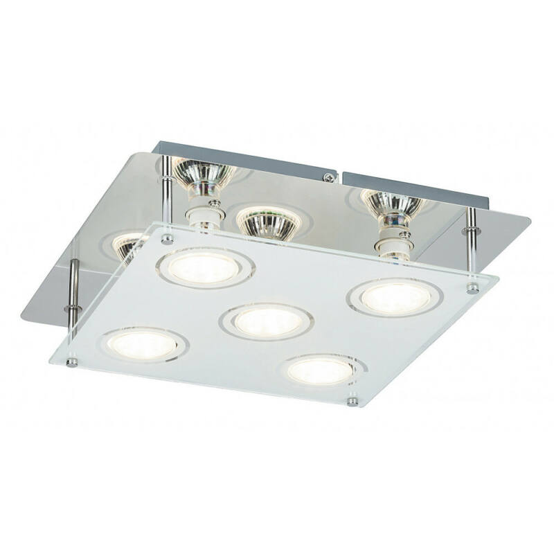 Rábalux Naomi 2512 mennyezeti lámpa  króm   fém   GU10 5x MAX 15W   500 lm  3000 K  IP20   A+