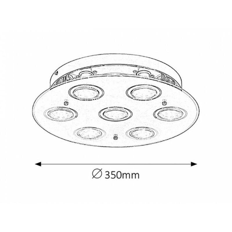 Rábalux Naomi 2518 mennyezeti spot lámpa króm fém GU10 7x MAX 15 GU10 7 db 700 lm 3000 K IP20 A+