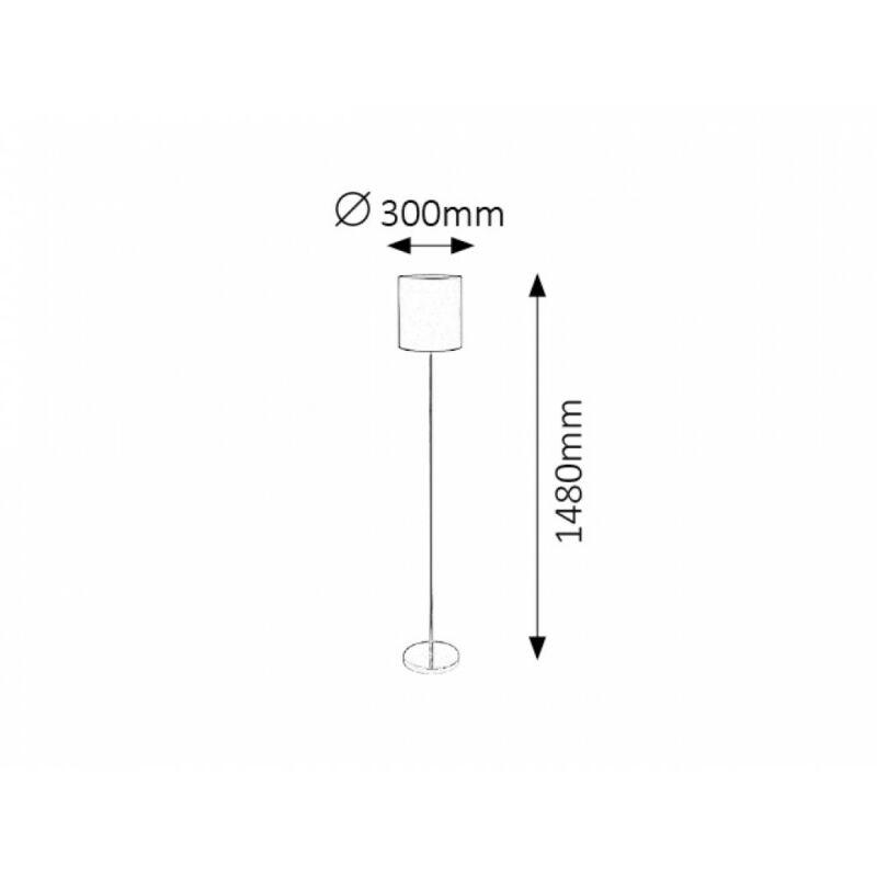 Rábalux Monica 2529 állólámpa fehér fém E27 1x MAX 60 E27 1 db IP20