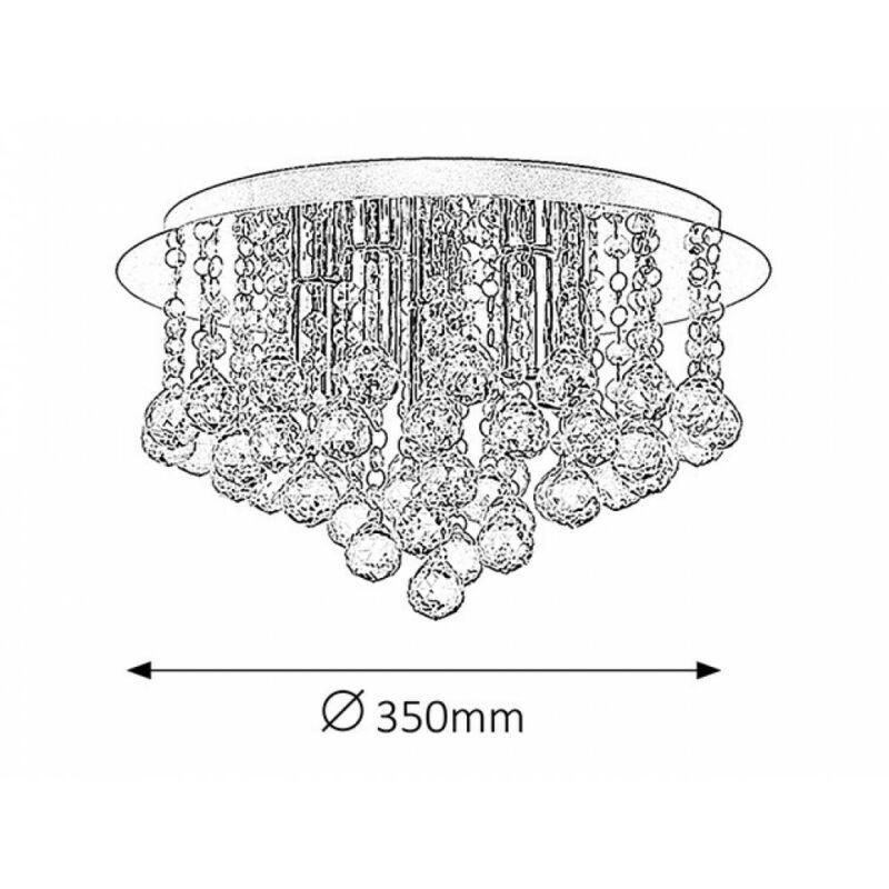 Rábalux Corinna 2616 mennyezeti lámpa króm fém E14 5x MAX 40 E14 5 db IP20