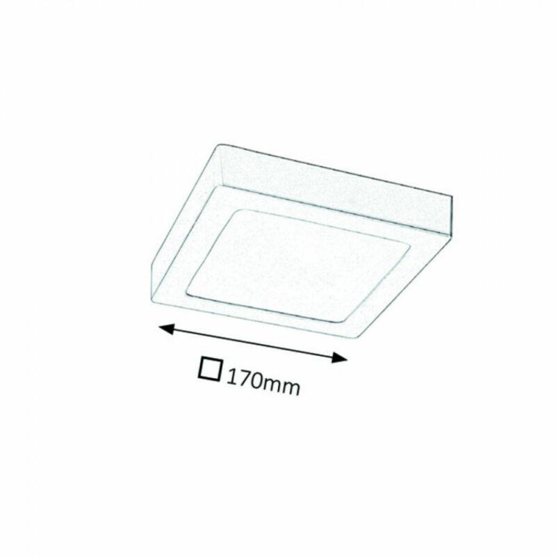 Rábalux Lois 2667 irodai led világítás szatin króm fém LED 12 800 lm 3000 K IP20 G