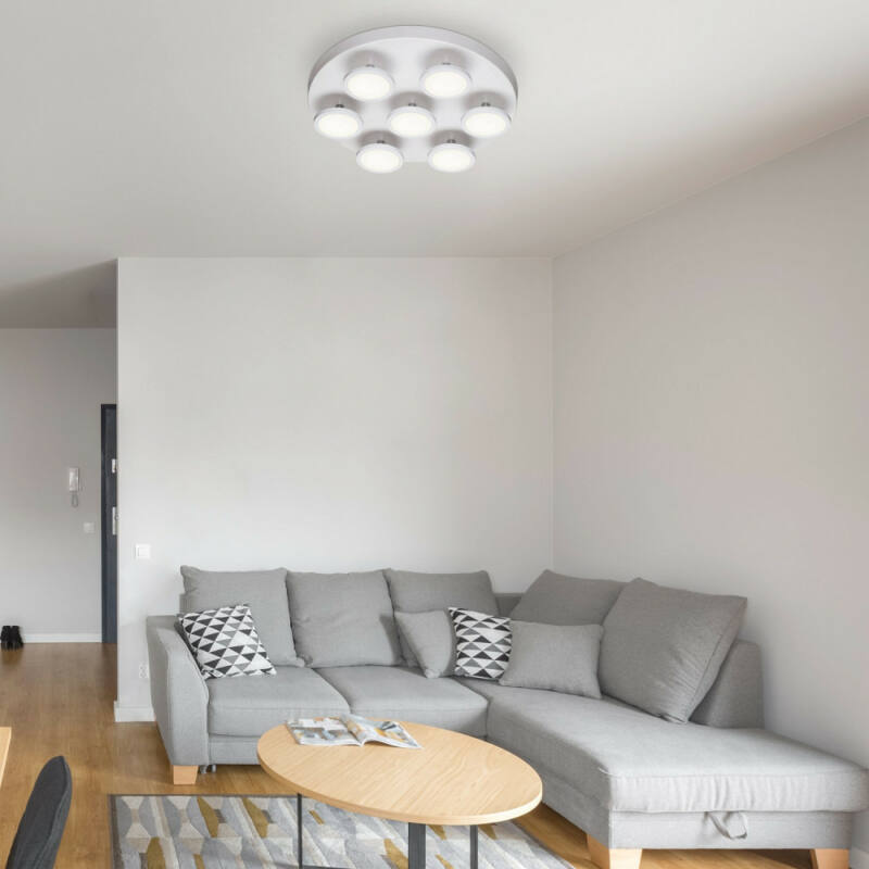 Rábalux Elsa 2715 mennyezeti lámpa  matt fehér   fém   LED 7x 6W   2940 lm  4000 K  IP20   A+