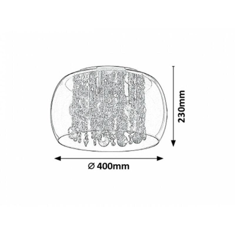 Rábalux Brillant 2827 mennyezeti lámpa  átlátszó   fém   E14 3x MAX 40W   IP20