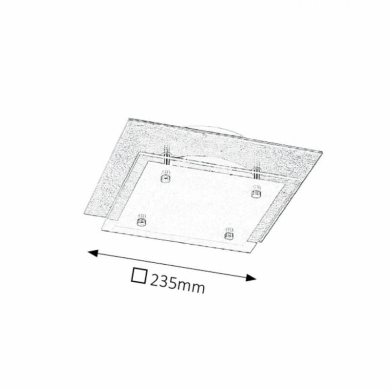 Rábalux June 3029 mennyezeti lámpa  ezüst fólia   fém   LED 12W   960 lm  4000 K  IP20   A+
