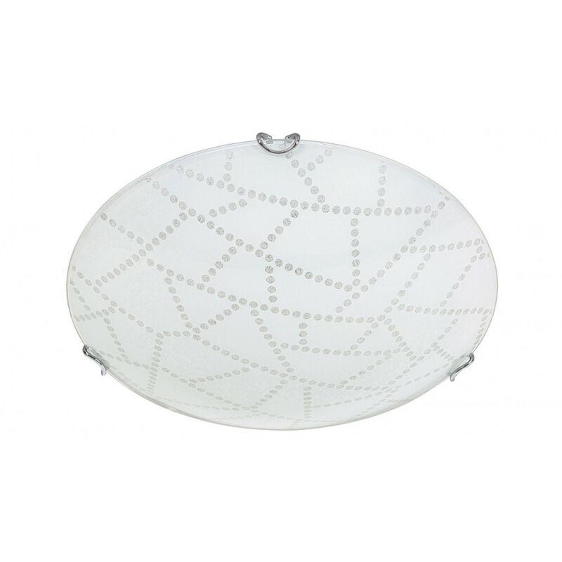 Rábalux Emory 3225 ufó lámpa  fehér mintás   fém   LED 12W   960 lm  3000 K  IP20   A+