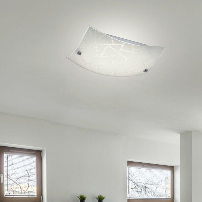 Rábalux Emory 3227 mennyezeti lámpa  fehér mintás   fém   LED 12W   960 lm  3000 K  IP20   A+