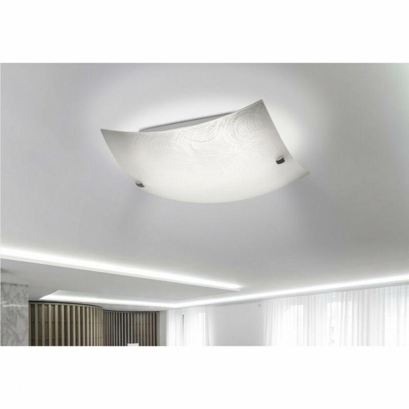 Rábalux Tanner 3232 mennyezeti lámpa  fehér mintás   fém   LED 12W   960 lm  4000 K  IP20   A+