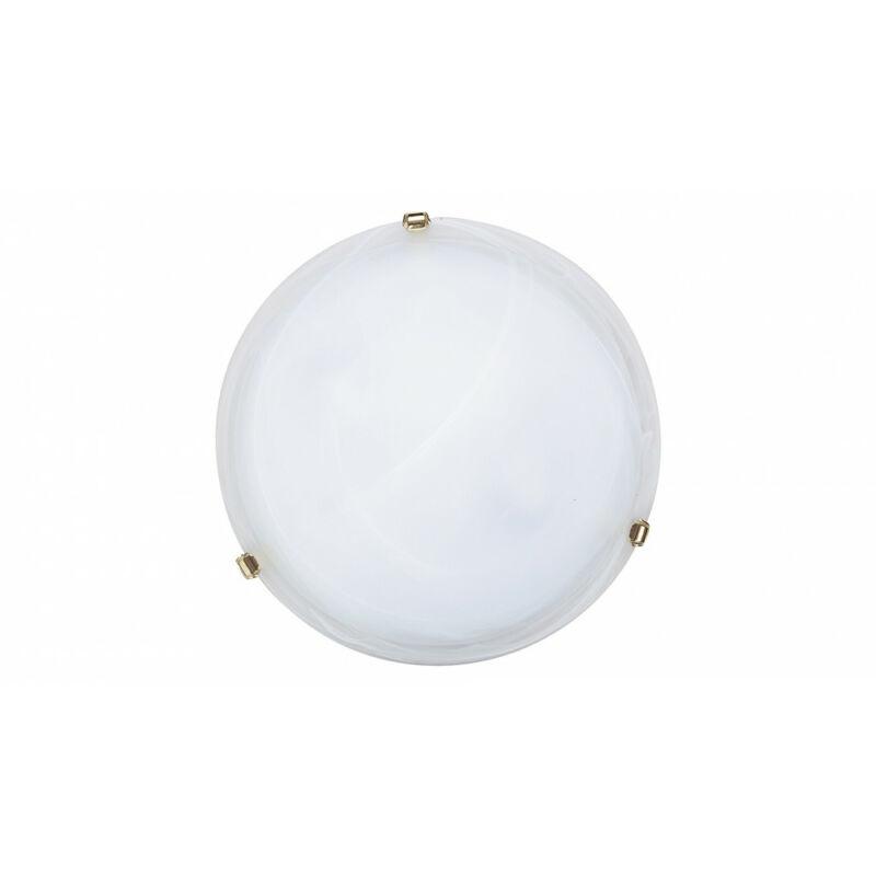 Rábalux Alabastro 3301 ufó lámpa  fehér alabástrom üveg   fém   E27 2x MAX 60W   IP20