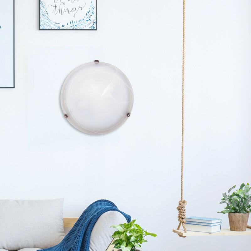 Rábalux Alabastro 3302 ufó lámpa fehér alabástrom üveg fém E27 2x MAX 60 E27 2 db IP20