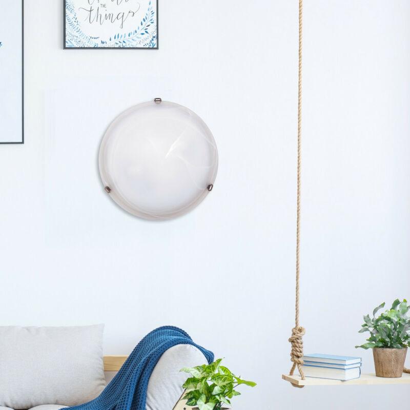 Rábalux Alabastro 3302 ufó lámpa  fehér alabástrom üveg   fém   E27 2x MAX 60W   IP20