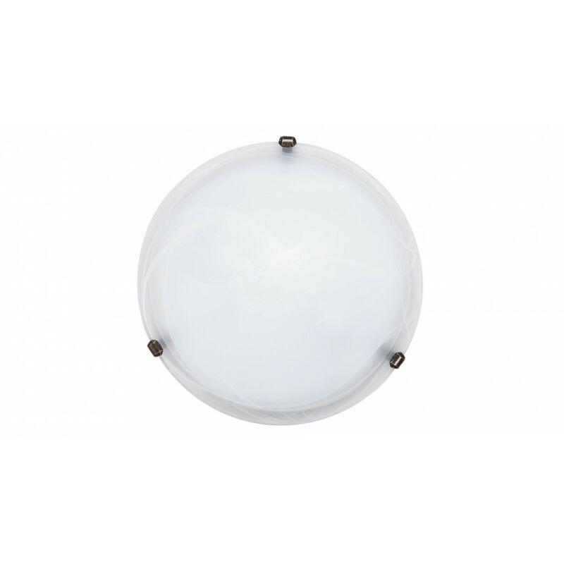 Rábalux Alabastro 3303 ufó lámpa  fehér alabástrom üveg   fém   E27 2x MAX 60W   IP20