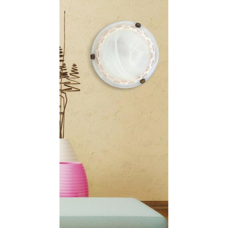 Rábalux Tom 3484 ufó lámpa  mintás alabástrom   fém   E27 2x MAX 60W   IP20