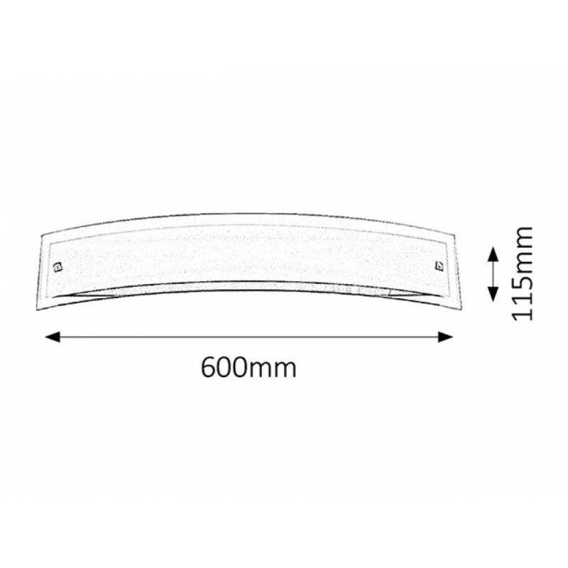 Rábalux Line 3573 fali lámpa szatin króm fém E14 3x MAX 40 E14 3 db IP20