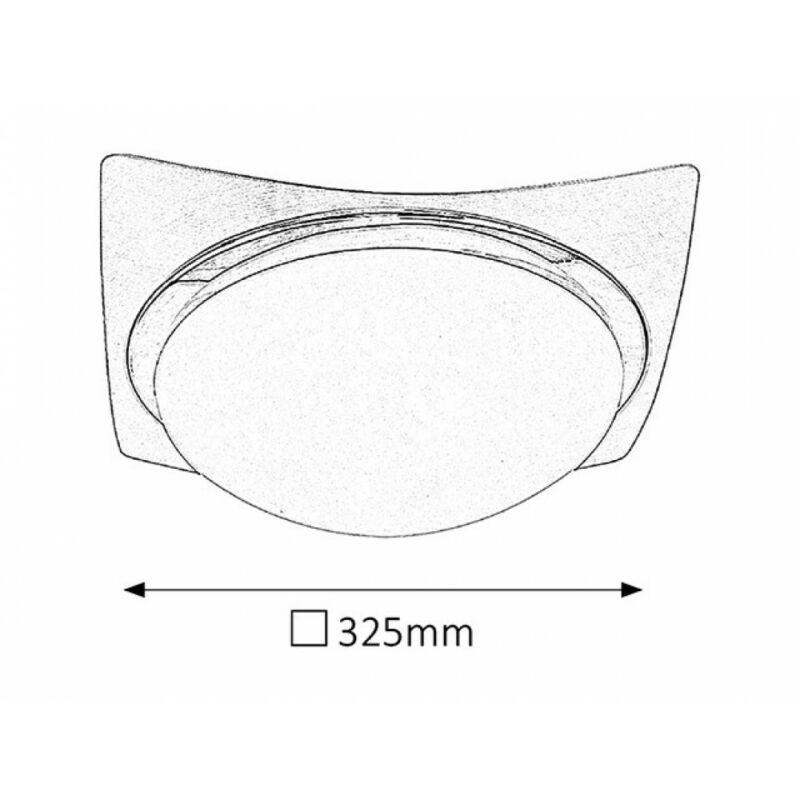Rábalux Princessa 3666 mennyezeti lámpa  szatin króm   fém   E27 2x MAX 40W   E27   2 db  IP20