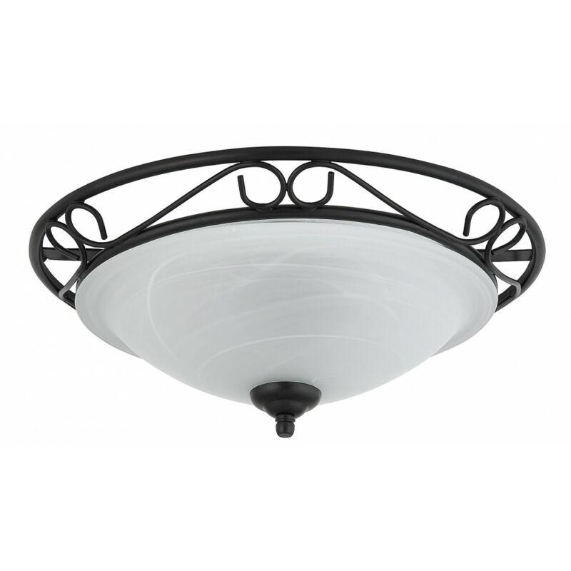 Rábalux Athen 3722 mennyezeti lámpa fekete fém E27 2x MAX 60 E27 2 db IP20