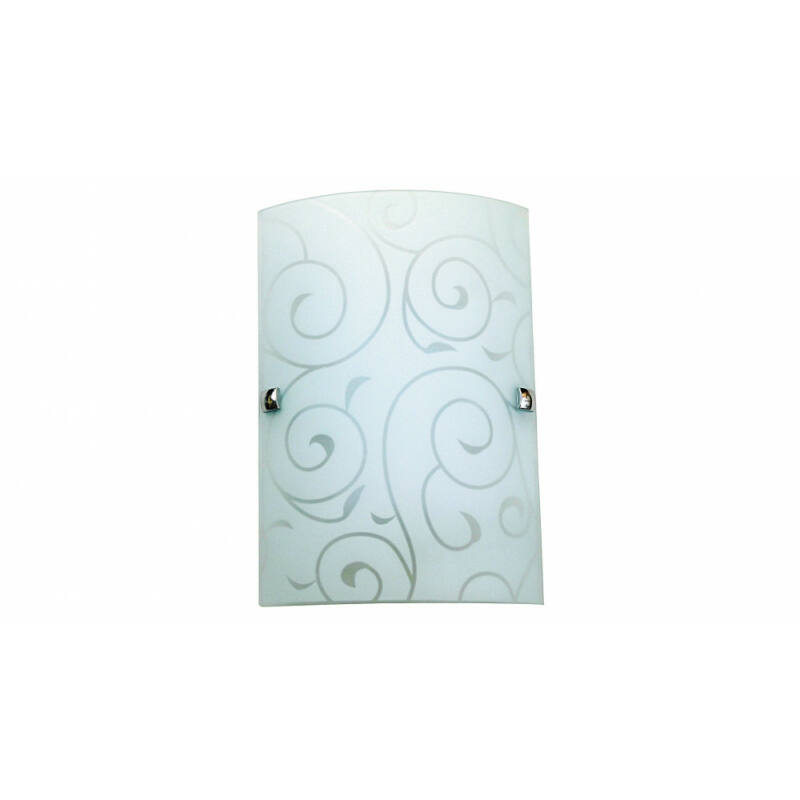 Rábalux Harmony Lux 3850 fali lámpa fehér mintás fém E27 1x MAX 60 E27 1 db IP20
